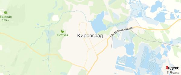 Карта Кировграда с районами, улицами и номерами домов