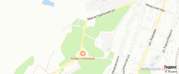 Улица 2 Полигон на карте Миасса с номерами домов