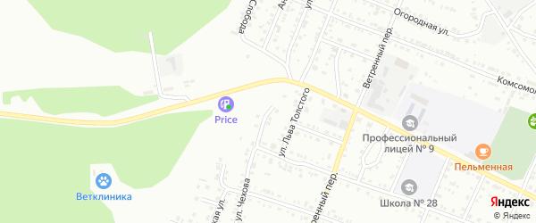 Улица Чехова на карте Миасса с номерами домов
