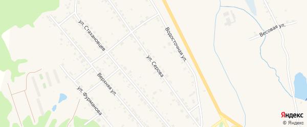 Улица Серова на карте Дегтярска с номерами домов
