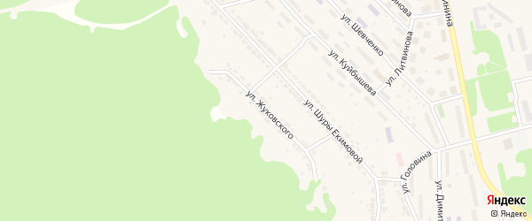 Улица Жуковского на карте Дегтярска с номерами домов