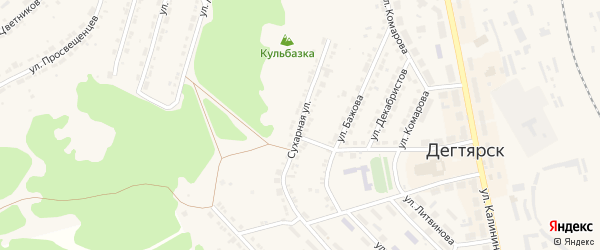 Сухарная улица на карте Дегтярска с номерами домов