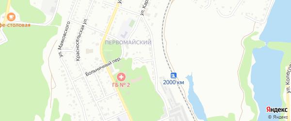 Переулок Карла Маркса на карте Миасса с номерами домов