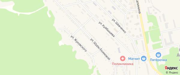 Улица Шуры Екимовой на карте Дегтярска с номерами домов