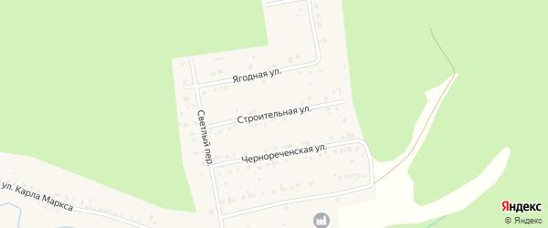 Строительная улица на карте Черновского села с номерами домов
