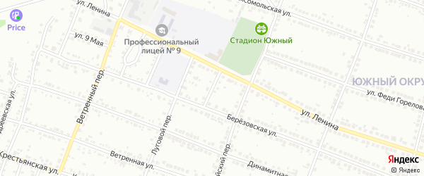 Березовский переулок на карте Миасса с номерами домов