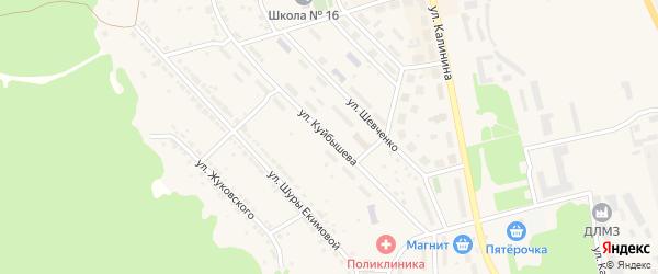 Улица Куйбышева на карте Дегтярска с номерами домов