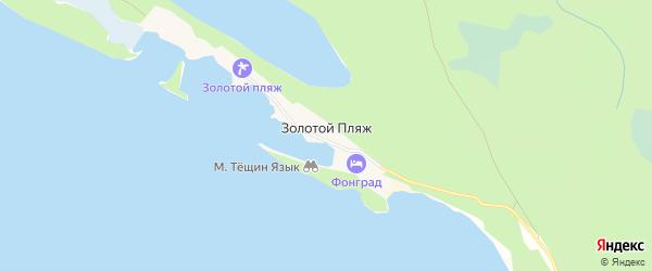 Карта поселка Золотого Пляжа города Миасса в Челябинской области с улицами и номерами домов