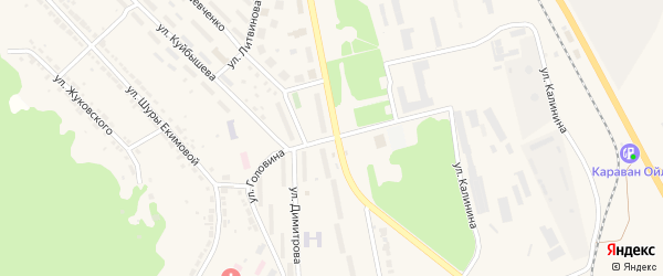 Улица Головина на карте Дегтярска с номерами домов