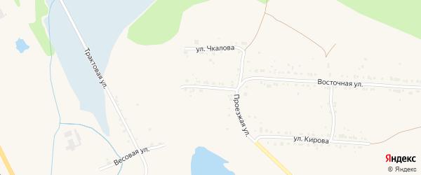 Транспортная улица на карте Дегтярска с номерами домов