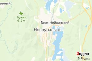 Карта г. Новоуральск Свердловская область