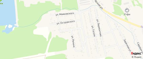 Улица Мамина-Сибиряка на карте Дегтярска с номерами домов
