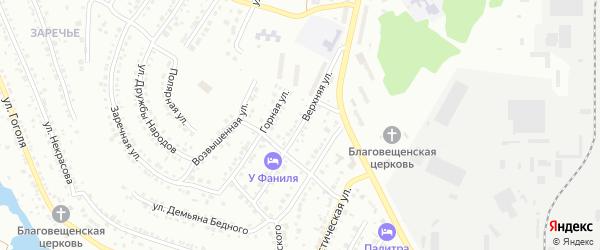 Верхняя улица на карте Миасса с номерами домов