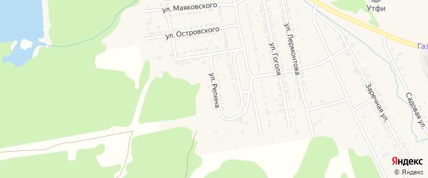 Улица Репина на карте Дегтярска с номерами домов