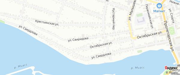Улица Свиридова на карте Миасса с номерами домов