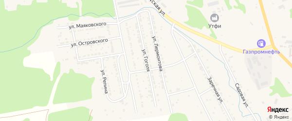 Улица Гоголя на карте Дегтярска с номерами домов