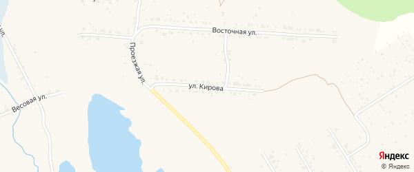 Улица Кирова на карте Дегтярска с номерами домов