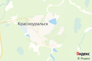Карта г. Красноуральск Свердловская область
