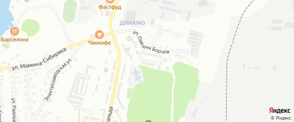 Улица Батина на карте Миасса с номерами домов