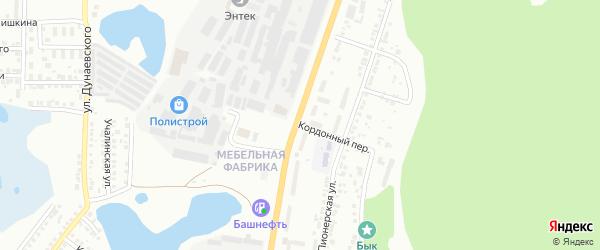 Кордонный переулок на карте поселка Ленинска с номерами домов