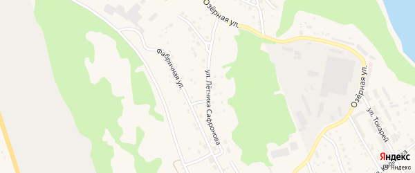 Улица Летчика Сафронова на карте Дегтярска с номерами домов