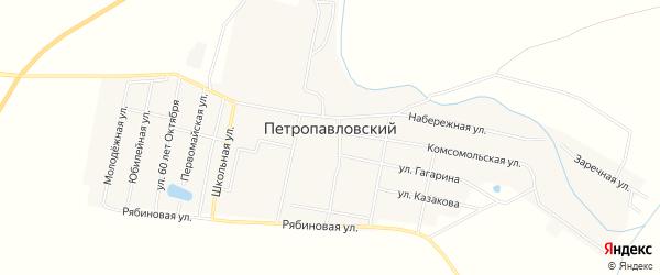 Карта Петропавловского поселка в Челябинской области с улицами и номерами домов