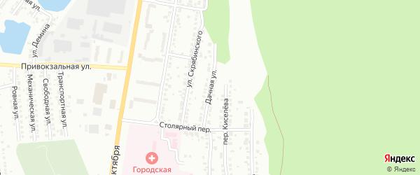 Дачная улица на карте Миасса с номерами домов