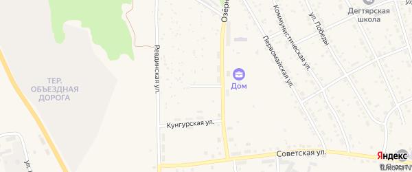 Дегтярская улица на карте Дегтярска с номерами домов