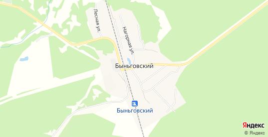 Карта поселка Быньговский в Невьянске с улицами, домами и почтовыми отделениями со спутника онлайн