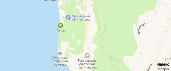 Улица Туристов на карте поселка Тургояка с номерами домов