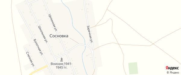 Заречная улица на карте села Сосновки с номерами домов