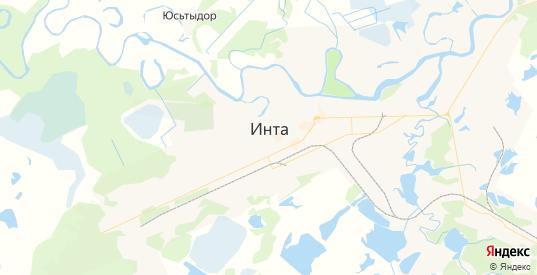 Карта Инты с улицами и домами подробная. Показать со спутника номера домов онлайн