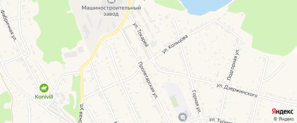 Улица Кольцова на карте Дегтярска с номерами домов