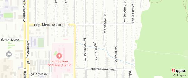 Улица Ватутина на карте Миасса с номерами домов