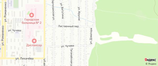 Улица Фрунзе на карте Миасса с номерами домов