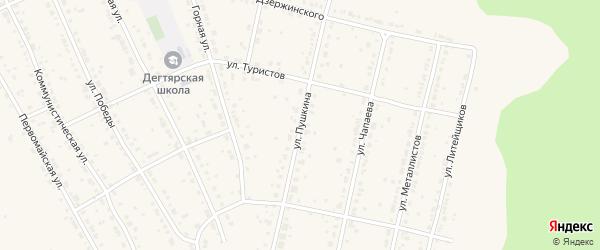 Улица Пушкина на карте Дегтярска с номерами домов