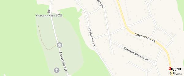 Уральская улица на карте Дегтярска с номерами домов