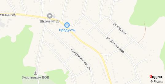 Советская улица в Дегтярске с номерами домов на карте. Спутник и схема онлайн