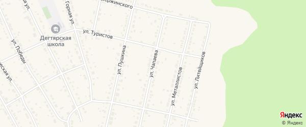 Улица Чапаева на карте Дегтярска с номерами домов
