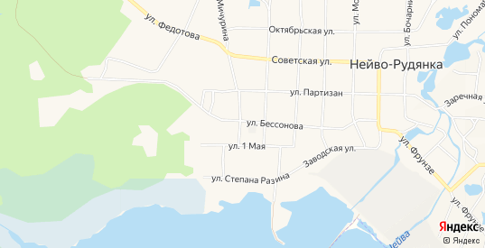 ГСК ГМ Бессонова 2А на карте поселка Нейво-Рудянки с номерами домов