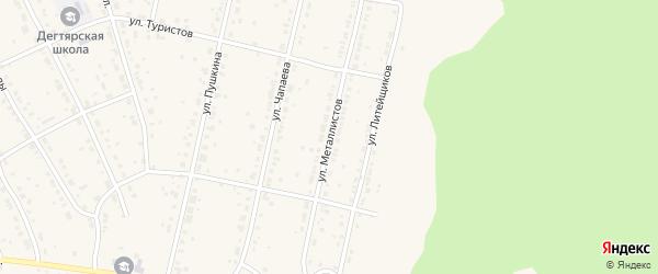 Улица Металлистов на карте Дегтярска с номерами домов