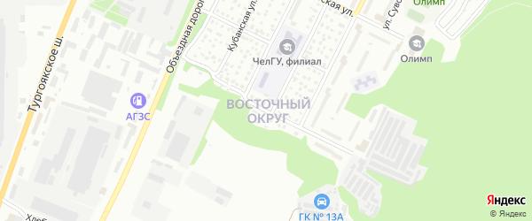 Амурская улица на карте Миасса с номерами домов