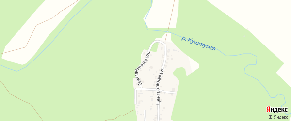Земляничная улица на карте поселка Михеевки с номерами домов