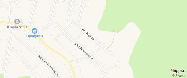 Улица Фрунзе на карте Дегтярска с номерами домов