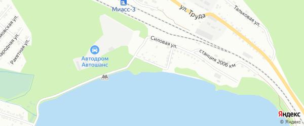 Береговая улица на карте Миасса с номерами домов