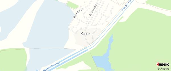 Карта поселка Канала города Первоуральска в Свердловской области с улицами и номерами домов