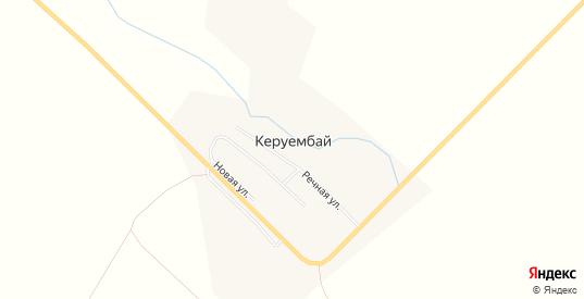 Карта села Керуембай в Оренбургской области с улицами, домами и почтовыми отделениями со спутника онлайн