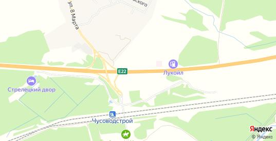 Карта автодороги Пермь-Екатеринбург в Первоуральске с улицами, домами и почтовыми отделениями со спутника онлайн