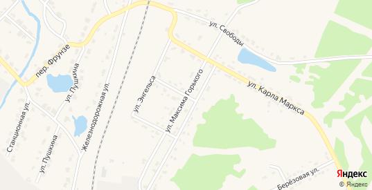 Улица Максима Горького в поселке Нейво-Рудянка в Кировграде с номерами домов на карте. Спутник и схема онлайн