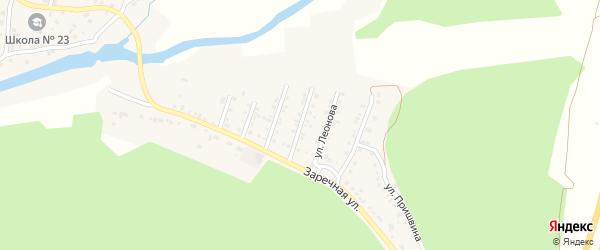 Улица Сейфуллиной на карте поселка Северные Печи с номерами домов